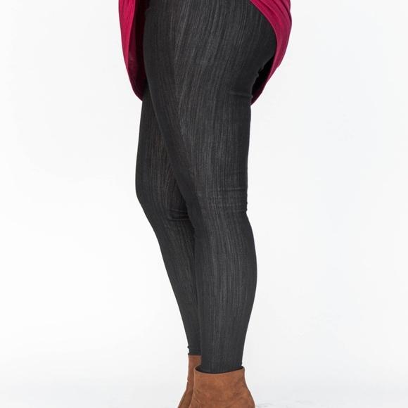 ecdc6053141117 Agnes & Dora Pants | Agnes Dora Black Knit Jeggings | Poshmark